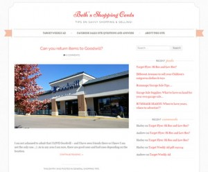 Beth's Shopping Cents website